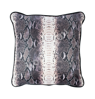 Pillow BLACK HOLLY 45x45cm, snake pattern on a black background