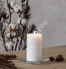LED-küünal FLAMME D7,5xH14cm, valge, taimer 6h