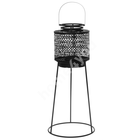 Lantern jala peal ARUBA, D28xH59cm, must metall