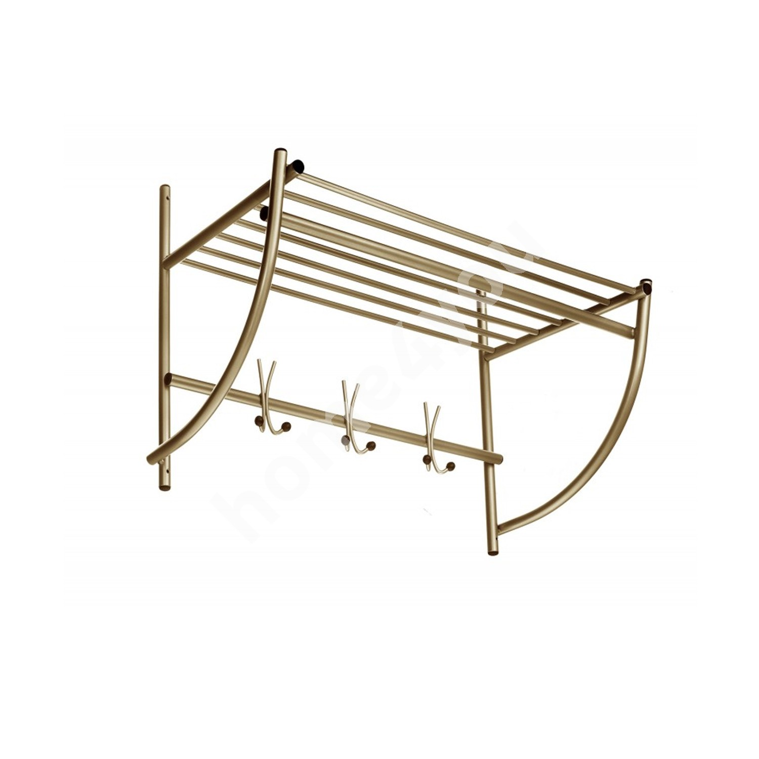 Wall coat rack ALTO, 75x50x35cm, golden