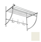 Wall coat rack ALTO, 75x50x35cm, white