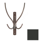 Wall coat rack IBEX 3, 20x29x10cm, black structural