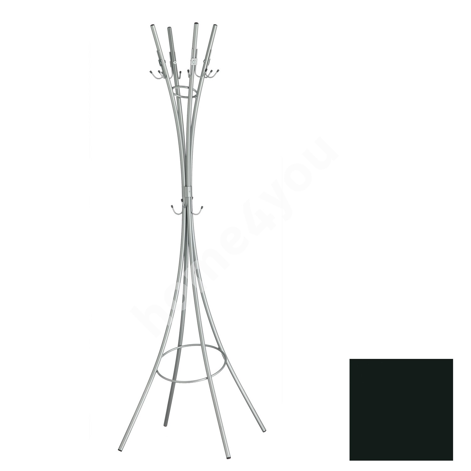 Coat rack LIIVAKELL, 50x183x50cm, black