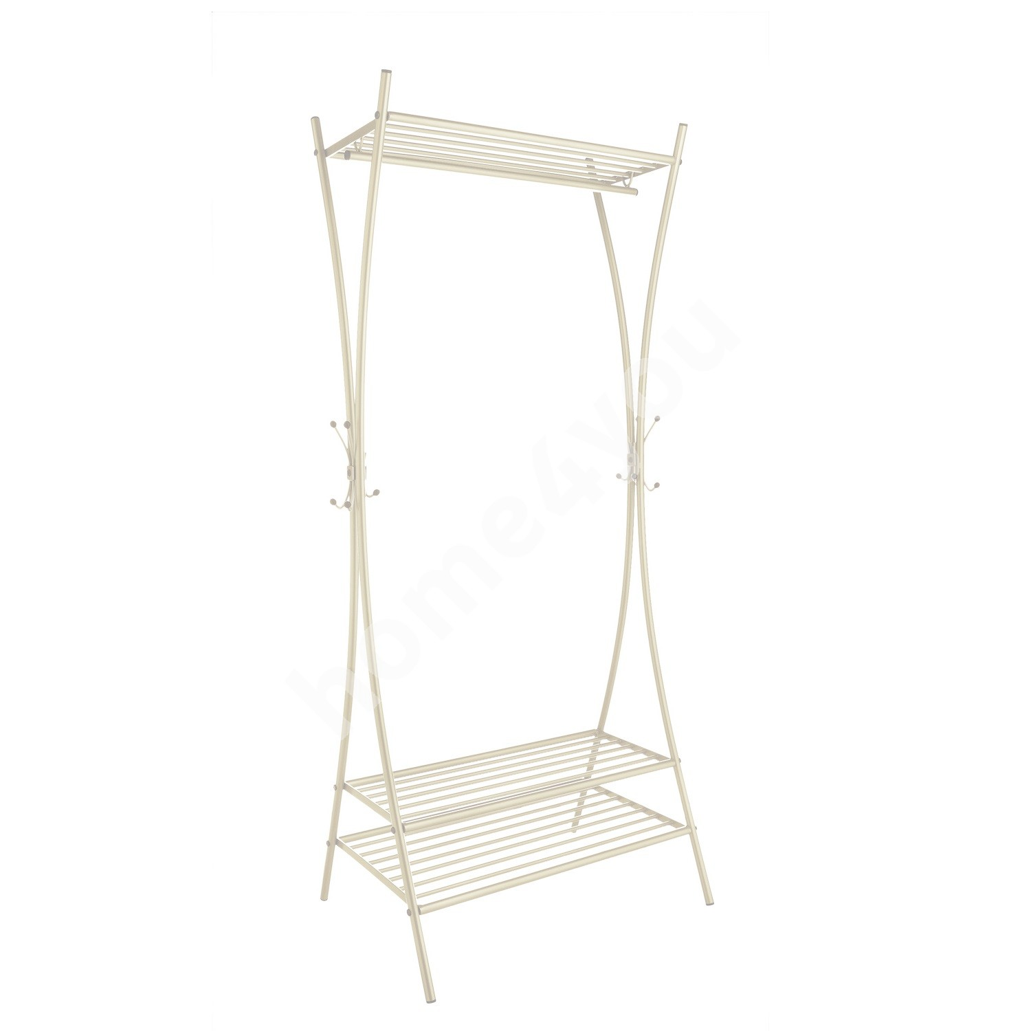 Coat rack DOUBLE XX, 76x176x59cm, white
