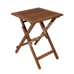 Table ROUEN 50x50xH68cm, foldable, wood: meranti, finish: oiled