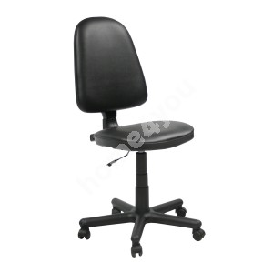 Task chair PRESTIGE 46xD44,5xH95,5-113,5cm, seat: imitation leather, color: black