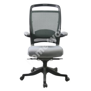 Task chair FULKRUM 63x71xH113-121cm, seat: fabric, back rest: mesh, color: grey