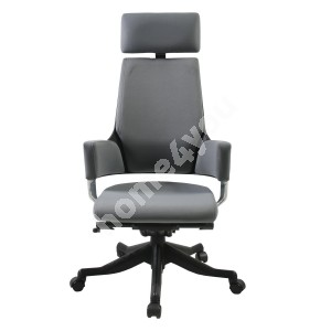 Task chair DELPHI with headrest, 60xD47xH116-128,5cm, seat and back rest: fabric, color: grey