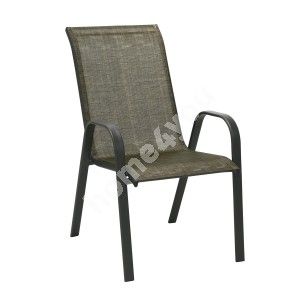 Chair DUBLIN 73x55,5xH93cm, seat and back rest: textiline, color: golden brown, steel frame, color: dark brown