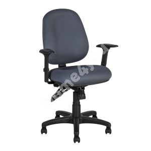 Task chair SAGA 64x64xH95,5-115cm, seat and back rest: fabric, color: grey