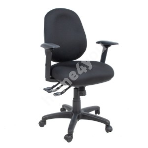 Task chair SAGA 64x64xH95,5-115cm, seat and back rest: fabric, color: black