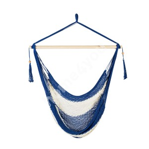 Swing chair CARINA blue striped