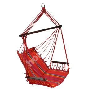 Swing chair HIP red striped