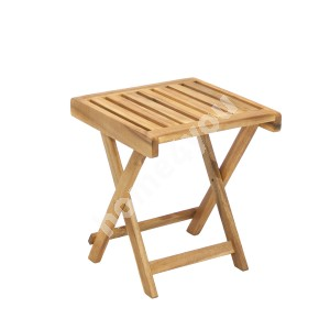Side table FINLAY 40x40xH40cm, foldable, wood: acacia, finish: oiled