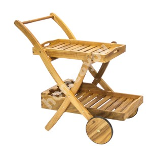 Serving trolley FINLAY 84x57xH84cm, wood: acacia, finish: oiled