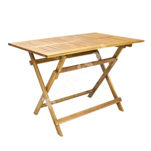 Table FINLAY 110x75xH72cm, foldable, wood: acacia, finish: oiled