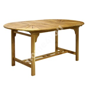 Table FINLAY 153/195x90xH72cm, extendable, wood: acacia, finish: oiled