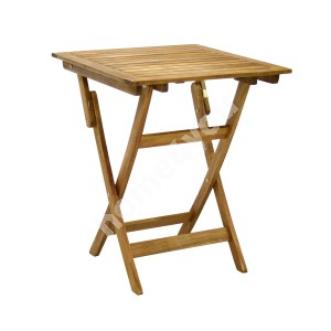 Table FINLAY 60x60xH72cm, foldable, wood: acacia, finish: oiled