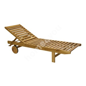 Deck chair FINLAY 193x60xH30cm, wood: acacia, finish: oiled