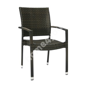 Chair WICKER-3 66x59xH92,5cm, dark brown