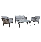 Комплект садовой мебели MARIE стол, диван и 2 стула, серый