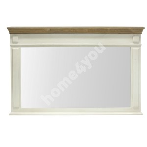 Mirror SAMIRA 107x4,5x70cm, color: antique white / brown