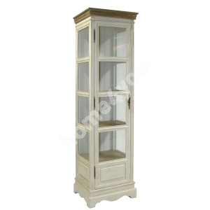 Display cabinet SAMIRA, 49x39xH178cm, color: antique white / brown
