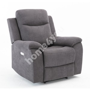 Recliner arm chair MILO 97x69xH103cm, with electric mechanism, grey