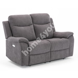Recliner sofa MILO 2-seater 155x96xH103cm, with electric mechanism, grey