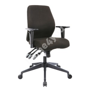 Task chair SMART 61x55-60xH94-103cm,  seat and back rest: fabric, color: black