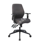 Töötool SMART 61x55-60xH94-103cm,  iste ja seljatugi: kangas, värvus: hall
