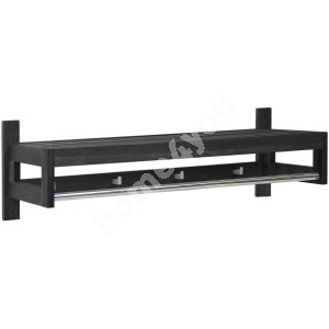 Hallway shelf MONDEO 82x32xH26cm, wood: oak, color: black