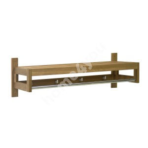 Hallway shelf MONDEO 82xD32xH26cm, wood: oak, finish: oiled