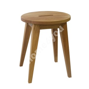 Stool MONDEO D36xH45cm, wood: oak, finishing: oiled