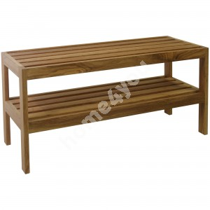 Shoe rack MONDEO 82x32xH40cm, wood: oak, finish: oiled