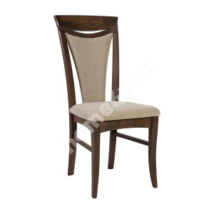 Chair MIX & MATCH 3 43x45xH97cm, seat and back rest: fabric, color: brown
