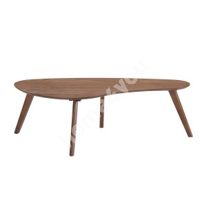 Coffee table SCARLETTE 120x60xH38cm, table top: MDF with walnut veneer, legs and apron: rubber wood, color: walnut