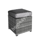 Stool PAVIA 45,5x45,5xH34,5cm, dark grey