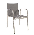 Tool BEVERLY 54,5x66xH82cm, iste ja seljatugi: pehmendusega textiline, värvus: hall, roostevabast terasest raam ja jalad