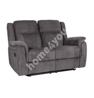 Diivan NORMAN 2-kohaline mehaaniline recliner 160x99xH102cm, kattematerjal: kangas, värvus: hall