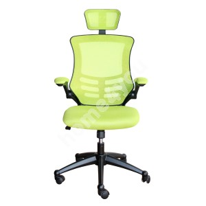 Task chair RAGUSA 66,5xD51xH117-126cm, seat and back rest: mesh fabric, color: light green