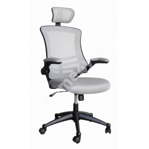 Task chair RAGUSA 66,5xD51xH117-126cm, seat and back rest: mesh fabric, color: grey