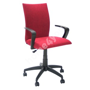 Task chair CLAUDIA 59x57xH87-96,5cm, seat and back rest: fabric, color: red