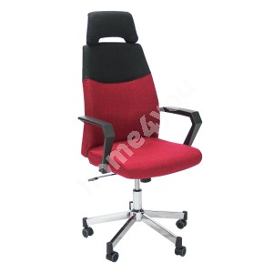 Task chair DOMINIC 58x59xH113,5-121cm, seat and back rest: fabric, color: red - black