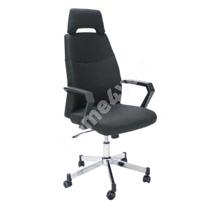 Task chair DOMINIC 58x59xH113,5-121cm, seat and back rest: fabric, color: black