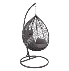 Hanging chair DROPLET dark grey