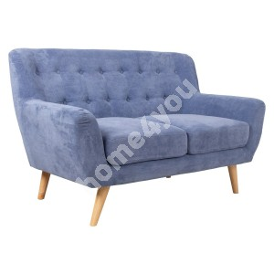 Sofa RIHANNA 2-seater 140x84xH87cm, blue fabric cover