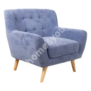 Armchair RIHANNA 93x84xH87cm, blue fabric cover