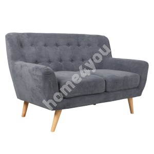Sofa RIHANNA 2-seater 140x84xH87cm, cover material: fabric, color: grey