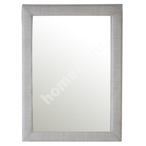 Mirror CAREN 70,5x90,5cm, frame is covered with fabric, color: grey